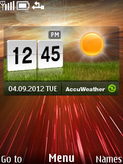 Weather Field Mobile Theme