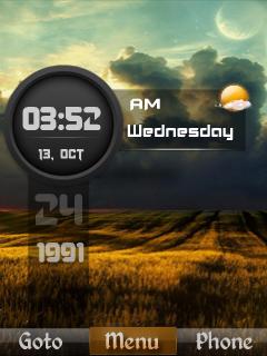 Iphone Nature Clock Mobile Theme