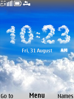 Clouds Clock Mobile Theme