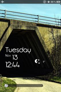 TimeBack Lockscreen Mobile Theme