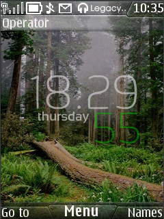 Iphone Nature Clock Mobile Theme