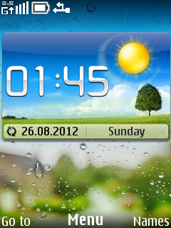 Huawei Clock Mobile Theme