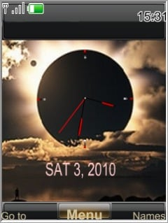 Swf Moon Clock Mobile Theme