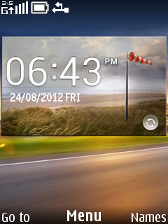 Nature Road Clock Mobile Theme