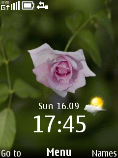 Rose Clock Mobile Theme