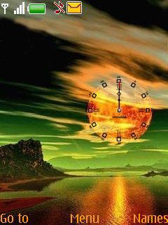 Sunset Clock Mobile Theme