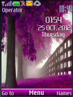 Pink Tree Clock Mobile Theme