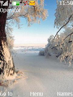 White Nature Mobile Theme