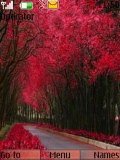 Pink Autumn Nature Mobile Theme