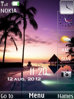 Paradise Clock Mobile Theme