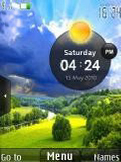 Clock With Weather Mobile Theme