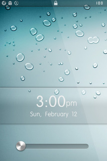LS Drops Clock IPhone Theme Mobile Theme