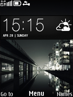 Dark City Night Mobile Theme