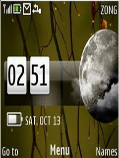 Tree Desire Clock Mobile Theme