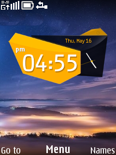 Wonderful Clock Mobile Theme