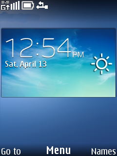 Blue Weather Clock Mobile Theme