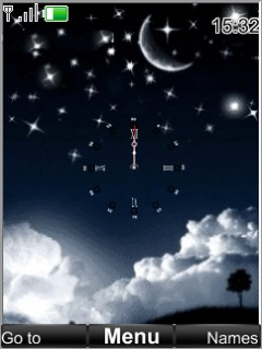Swf Sky Clock Mobile Theme