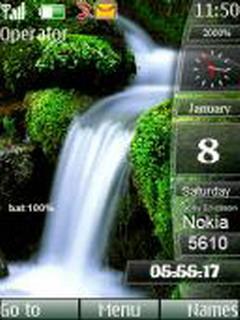 Waterfall Sidebar Mobile Theme