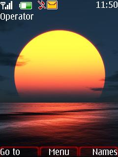 Sun Over Sea Mobile Theme