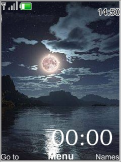 Dark Night Clock Mobile Theme