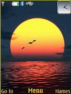Sea And Sunset Nokia S40 Theme Mobile Theme