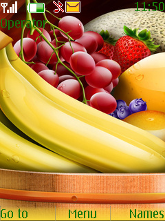 Healthy Fruits Collection S40 Theme Mobile Theme