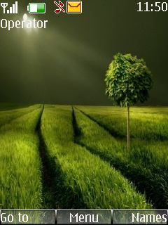 Night Green Field S40 Theme Mobile Theme