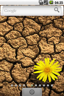 Earth And Yellow Flower For Android Theme Mobile Theme
