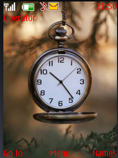 Analog Nature Clock S40 Theme Mobile Theme