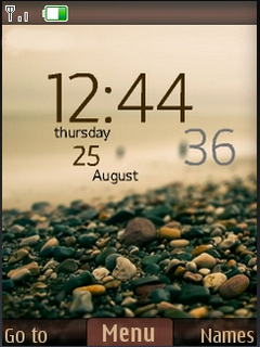 Beach Stone Nature Clock S40 Theme Mobile Theme
