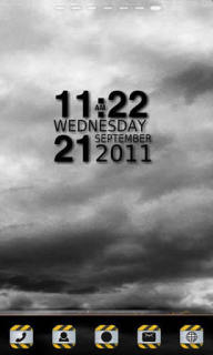Dark Clouds Clock For Android Theme Mobile Theme