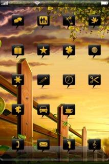 Golden Autumn Field IPhone Theme Mobile Theme