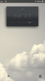 Ls Clouds Clock IPhone Theme Mobile Theme