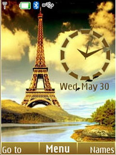 Eiffel Tower Clock S40 Theme Mobile Theme