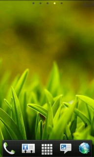 Grass Field Nature Android Theme Mobile Theme