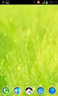 Wet Grass For Android Theme Mobile Theme