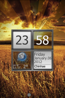 Grain Field & Sunset Clock For IPhone Theme Mobile Theme