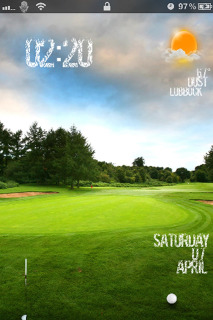 Green Nature & Golf Slider For IPhone Theme Mobile Theme