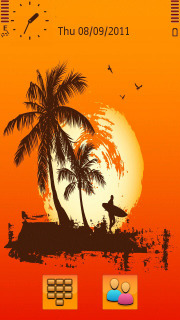 Orange Sunset Hawaii S60v5 Theme Mobile Theme