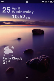 LS Weather Sea Clock IPhone Theme Mobile Theme
