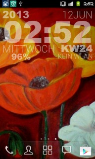 Poppies Colors Clock Android Theme Mobile Theme