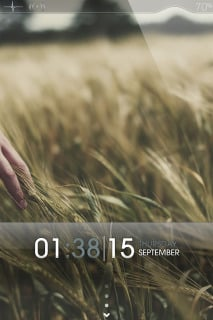 Wheat Field Nature Clock IPhone Theme Mobile Theme
