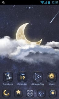 Moon Clouds Android Theme Mobile Theme