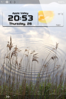 Waves River Nature Clock IPhone Theme Mobile Theme