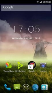 Morning Nature Wind Mill Android Theme Mobile Theme