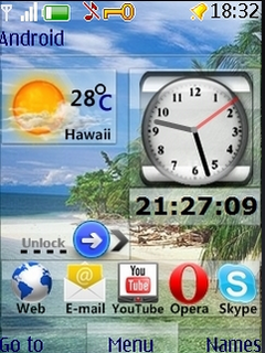 Beach Nature & Icons 3D S40 Theme Mobile Theme
