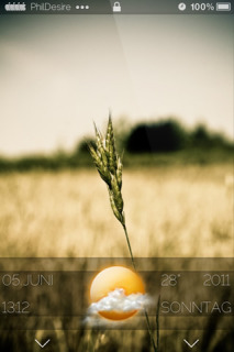 Wheat Field LockedScreen IPhone Theme Mobile Theme