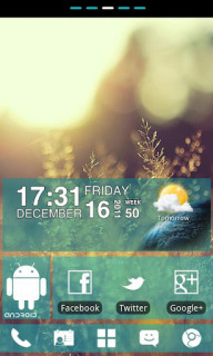 Sunset Blue Clock For Android Theme Mobile Theme