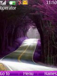 Purple Nature Road S40 Theme Mobile Theme