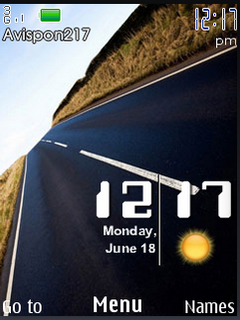 Road Day Live Clock S40 Theme Mobile Theme
